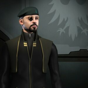ein EVE Online Charakter aus der Gallente Miliz